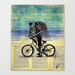 True blue love Canvas Print