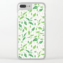 Tea leaves style Clear iPhone Case