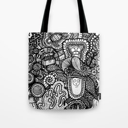 Under the Sea Doodle Tote Bag