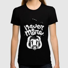 Edgar Allan Poe - Never More B/W T-shirt