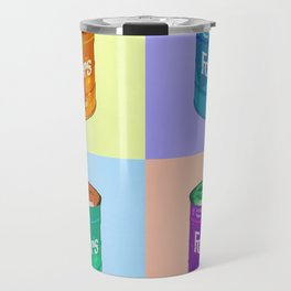 In Loving Memory of Donny Who Loved Bowling set of 4 pop art Travel Mug
