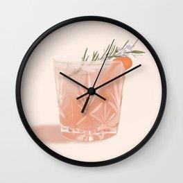 Gin Fizz Cocktail Wall Clock