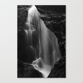Black and white waterfall long exposure Canvas Print