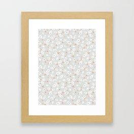 Festive Christmas Holly Leaves Framed Art Print
