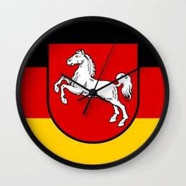 Flag of Niedersachsen (Lower Saxony) Wall Clock