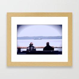 some like it blurred. Framed Art Print