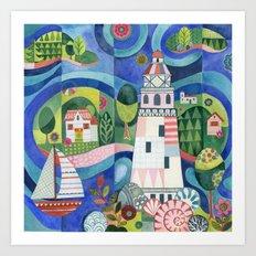 Island Lighthouse Art Print
