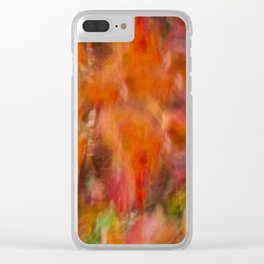 Autumn Smear Clear iPhone Case