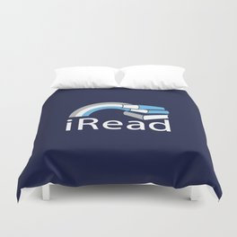 i Read | Book Nerd Slogan Duvet Cover