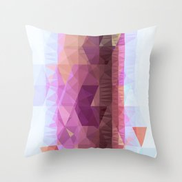 Lavender Purple Abstract Geometric Triangle Polyglen Wallart Illustration Throw Pillow