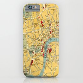Vintage map of Central London iPhone Case