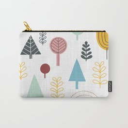 Winter Trees in Color Carry-All Pouch