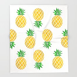 Beautiful Pineapple Pattern Throw Blanket