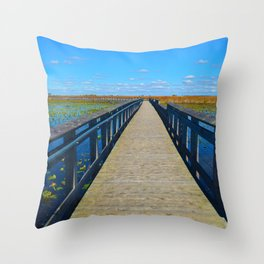 Point Pelee National Park Boardwalk in Leamington ON Canada Throw Pillow