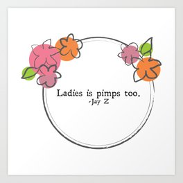 Floral - Ladies Art Print