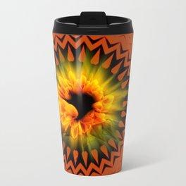 Sunflower Mandala Metal Travel Mug