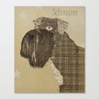 schnauzer Canvas Prints featuring Schnauzer  by bri.buckley