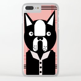 Fancy Terrier Red Clear iPhone Case