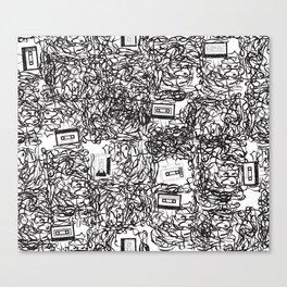 Cassette Tapes Canvas Print