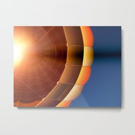 Up in a Balloon Metal Print