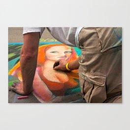 Chalk Woman Gazing Out Canvas Print