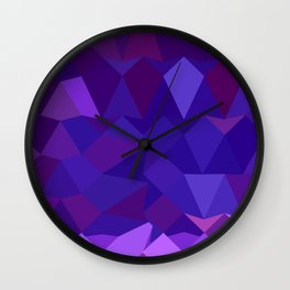 Eminence Purple Abstract Low Polygon Background Wall Clock