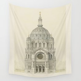Church of St. Augustine Paris Wall Tapestry