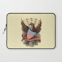 E pluribus unum - Out of many, one - vintage United States Bald Eagle hand drawn illustration Laptop Sleeve