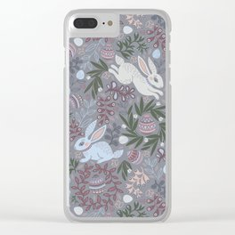 Hare and eggs Clear iPhone Case