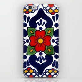 talavera mexican tile in blu iPhone Skin
