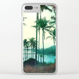 Palm Trees and the Sunset Clear iPhone Case