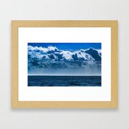 Layered Cloud Sky Framed Art Print