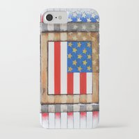 american flag iPhone & iPod Cases featuring American Flag by Steve Hester
