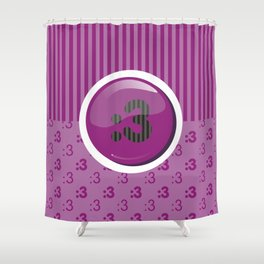 Purple Writer's Mood Shower Curtain