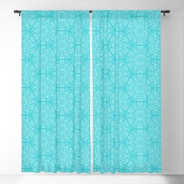 Hexagone Turquoise Blackout Curtain