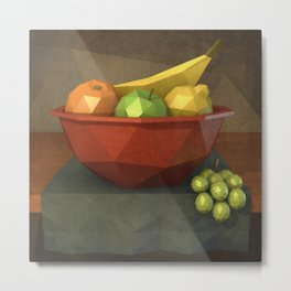Low-polygon style still life painting Metal Print