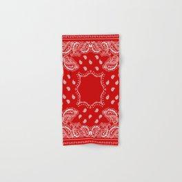 Bandana in Red & White Hand & Bath Towel