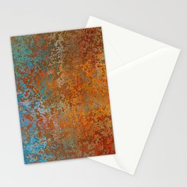 Vintage Rust, Copper and Blue Stationery Cards