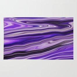 Purple Waves Abstract Art, Digital Fluid Artwork Rug