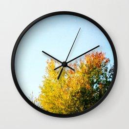 Autumn Treetops Wall Clock
