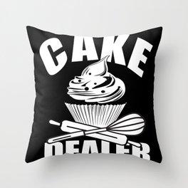 Cake Dealer Throw Pillow