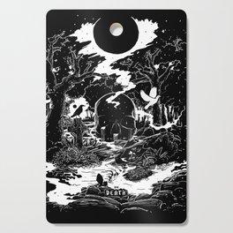 XIII - Death Card (Shadow Light Tarot) Cutting Board