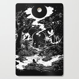 XIII - Death Card (Shadow Light Tarot) Cutting Board