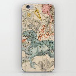 Vintage Celestial & Astrological Map  (1693) iPhone Skin