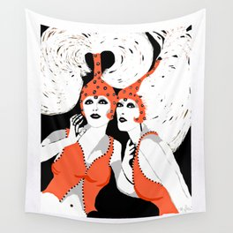 Woman Flappers Wall Tapestry