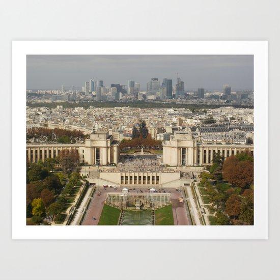 Aerial Paris Art Print