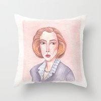 scully Throw Pillows featuring Scully by libbygrace