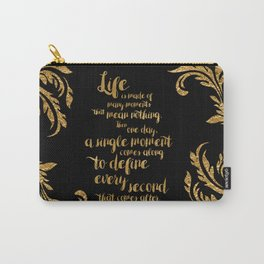 An Ember In The Ashes Quote Design in Gold Foil Carry-All Pouch