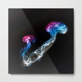 Smoked Jellyfish Metal Print