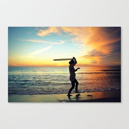 Sunset Hula Hooper Canvas Print